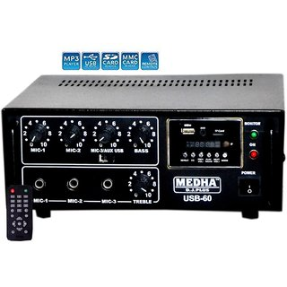 MEDHA D.J. PLUS PA mixer amplifier USB-60