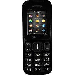 Micromax GC313 BLACK GSM+CDMA (BLACK)