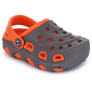 Phedarus Comfortable Clogs for Boys - Grey & Orange