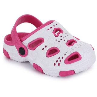 Phedarus Comfortable Clogs  for Girls - Pink & White