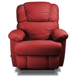 Encompass - Red Red Genuine Pure Leather Recliner