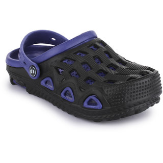 Phedarus Comfortable Clogs for Boys - Navy Blue & Black