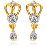 Mahi Gold Plated Magnificence Charm Earrings (ER1108566G)