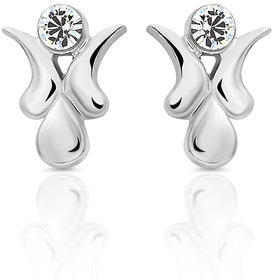 Mahi Silver Plated  Silver Studs For Women