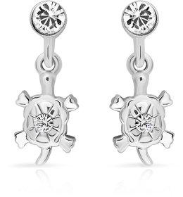 Mahi Rhodium Plated Ravishing Danglers Earrings (ER1103707R)