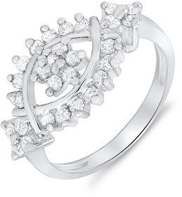 Mahi Rhodium Plated You & Me Ring (FR1100050)