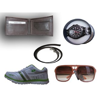 1ab7262949fc Wallet+Belt+Watches+Shoes+Goggle Combo Complete Fashion Wear for Gents