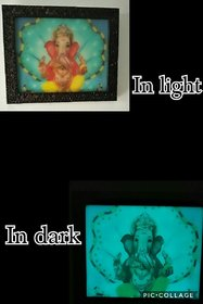 Night Glow Ganesha Photo Frame