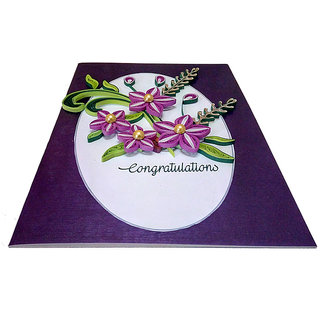 Handmade Paper quilling congratulations best wishes card