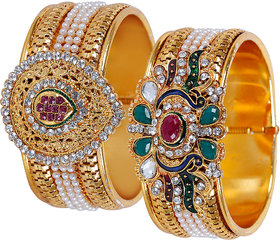 Jewels Guru Exclusive Bangles Set Pack Of 2 m1