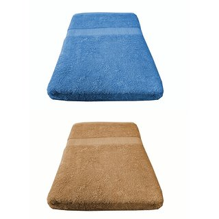 Welhouse India 550 GSM Roman Bath Towel (60x120) - Pack of 2
