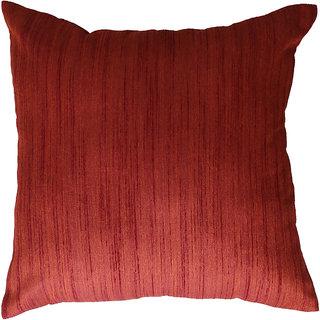 Nirantara Cushion Cover Brick colour, linning, front and back same with zipper