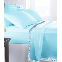 Volvo Single Bed Plain Cotton Top Sheet Set of 2 Pc.