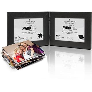 SViRU Hinged/Folding Photo Frame -BOLD - 5 X 7 - Black - Landscape