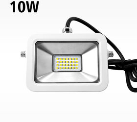 SNAP LIGHT 10W LED Outdoor Flood Light White Focus Waterproof - 45000 Hrs Long life