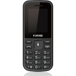 Forme N2 (Black)  ( 850 mAh Battery,Dual SIM,1.8 Inch Display,Rear Flash Camera)