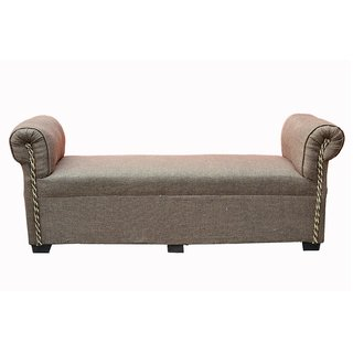 Ormond fabric chaise lounge in brown color buy ormond for Best price chaise lounge
