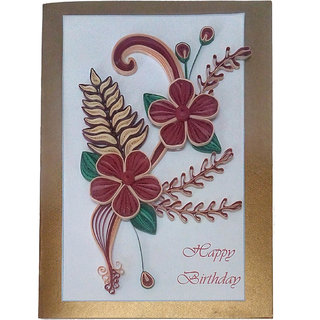 Buy handmade paper quilling happy birthday greeting card online handmade paper quilling happy birthday greeting card m4hsunfo