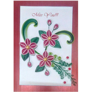Buy handmade paper quilling miss you greeting card online get 45 off handmade paper quilling miss you greeting card m4hsunfo