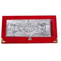 Diwali Exclusive-Royal Silver Currency Note With Velvet Cover-Combo Pack Of 3
