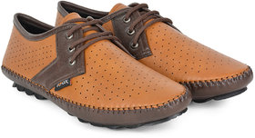 Foax Brown N Black Lace Up Shoes