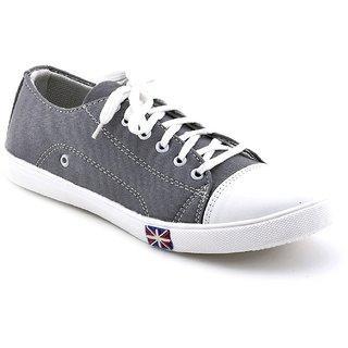 Cyro Men'S Gray Smart Canvas Casual Shoes