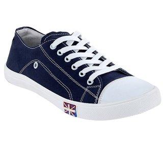 Cyro Men'S Navy Smart Canvas Casual Shoes