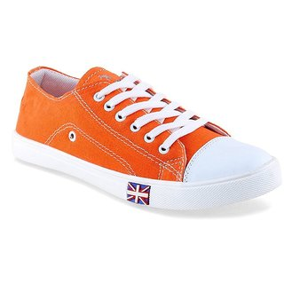 Cyro Men'S Orange Smart Canvas Casual Shoes