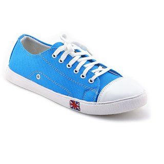 Cyro Men'S SkyBlue Smart Canvas Casual Shoes