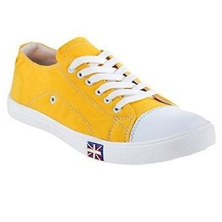 Cyro Men'S Yellow Smart Canvas Casual Shoes