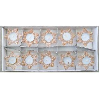Deepak/Candle Holder Made of Glass - Set of 10 Pcs.