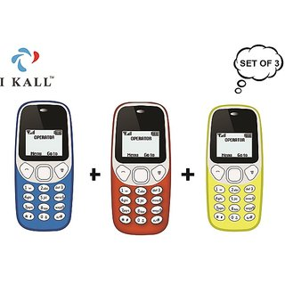 Set of 3 IKall K71 Single Sim 14 Inch Display 600 Mah battery BIS Certified  with 15 months Maufacturing Warrenty