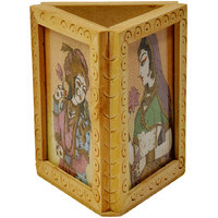 Beautiful Gemstone Painting Pen Stand Gift Utility Gift Pen Stand