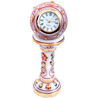 Ethnic Design Marble Table Clock Handicraft Marble Table Clock Item