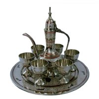White Metal Antique Royal Wine Set Handicraft Wine Set Gift Item