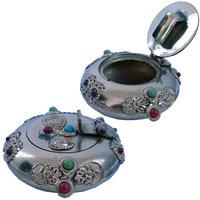 Pure Brass Gemstone Ash Tray Handicraft Gift Decorative Ash Tray