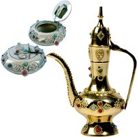 Buy Antique Gemstone Work Brass Surahi N Get Stylish Ash Tray Free