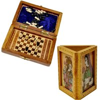 Buy Travellers Mini Chess Box N Get Gemstone Painted Pen Stand Free