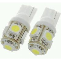 2 Pcs 5 Smd 5050 Led White Color T10 Socket Car Bike Parking Indicator Light Linkyweb