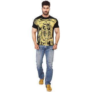 Black Majik Men's Printed Crew Neck T-shirt