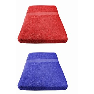 Welhouse India 550 GSM Roman Bath Towel (60x120) - Pack of 2