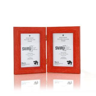 SViRU Hinged/Folding Photo Frame -BOLD - 4 X 6 - Orange - Portrait