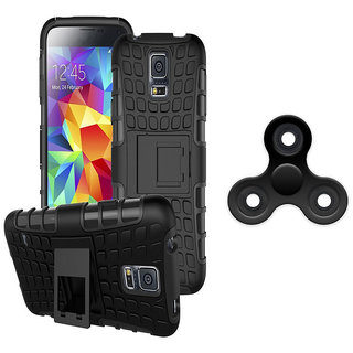 Vivo V5S Tough Armor Defender Kick Stand Hybrid Back Cover with Free Fidget Spinner Stress RelieverAssorted Color