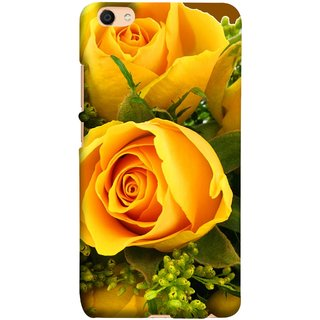FUSON Designer Back Case Cover for Vivo V5 (Friendship Yellow Roses Chocolate Hearts For Valentines Day)
