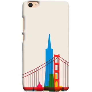 FUSON Designer Back Case Cover for Vivo V5 (Astounding Skyscrapers Of Remarkable Architectural)