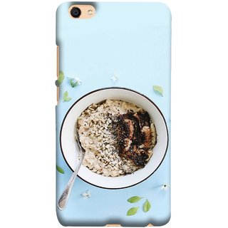 FUSON Designer Back Case Cover for Vivo V5 (Bowl Of Breakfast Cereal With Milk And Spoon)