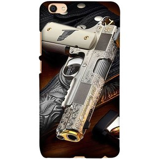FUSON Designer Back Case Cover for Vivo V5 (Gun Pouch Holder Loading Bullets Killing Murders )