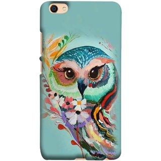 FUSON Designer Back Case Cover for Vivo V5 (Birds Sitting Alone Waiting For Partner Leaves Leaf Sketch)