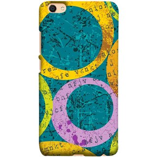 FUSON Designer Back Case Cover for Vivo V5 (Nila Pila Circles Tiles Bright Cool Typography )