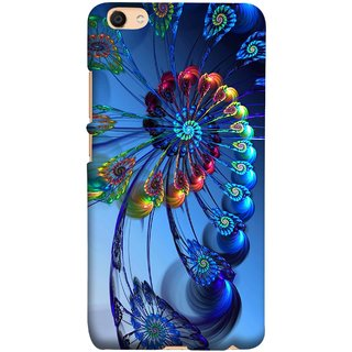 FUSON Designer Back Case Cover for Vivo V5 (Best Animation Artwork Pattern Rangoli Best Painting )